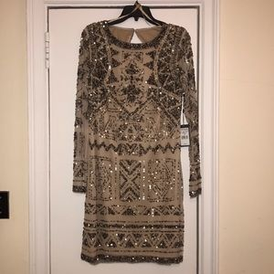 Adrianna Papell 3/4 Sleeve Sequin Dress 14 NWT